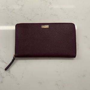 Maroon Kate Spade Wallet